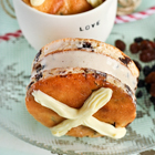 Hot Cross Bun Ice Cream Sandwiches