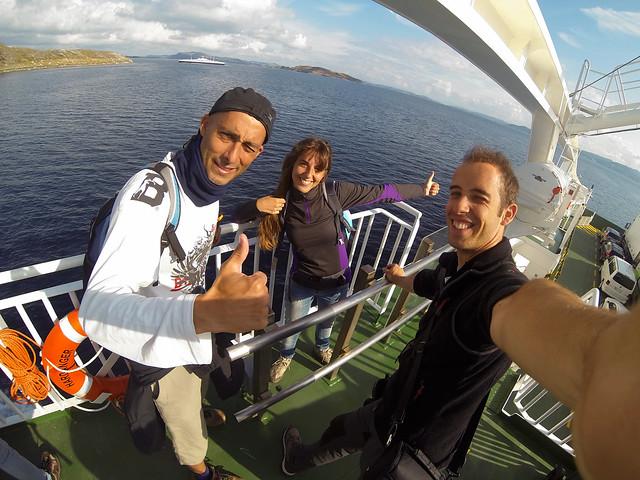 En el ferry de Stavanger a Tau