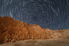 Star Trails Over Pliocene Clay Lake Bed