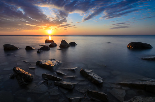 sun water wisconsin clouds sunrise landscape nikon rocks lakemichigan milwaukee lakeshore tamron lakefront mke bradfordbeach lincolnmemorialdrive boulderpoint leefilters nikond7000 jakerost dearmke