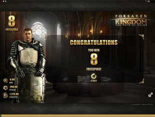 Forsaken Kingdom Free Spins