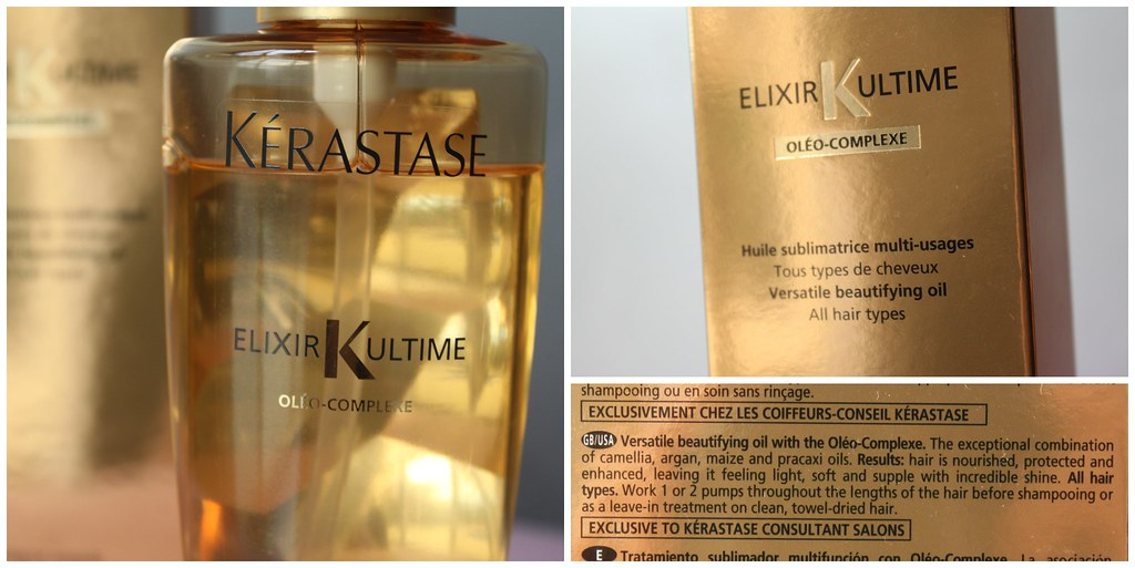 Kerastase elixr ultime salon beautifying luxury oil hair beautiful ausbeautyreview australian beauty review blog blogger gold hydrating damaged