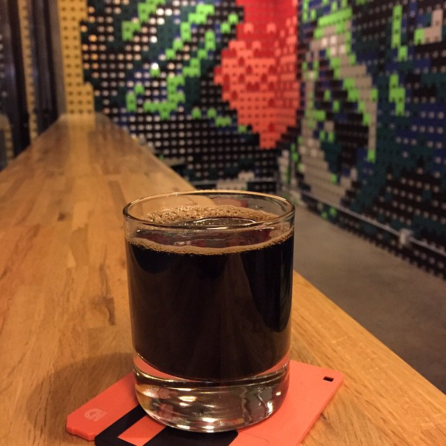 #kvpinmybelly Devil's Teeth at @ModernTimesBeer FlavorDome in #SanDiego North Park. So rich! Love the coffee flavor in this uber dark #beer. NOM! #beerlove