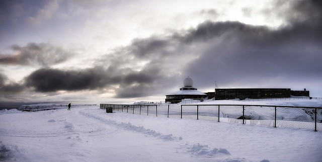 Almost alone at the North Cape Center, Norway Arctic