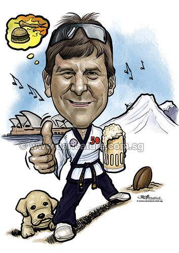 digital caricature sketch for International SOS (watermarked)