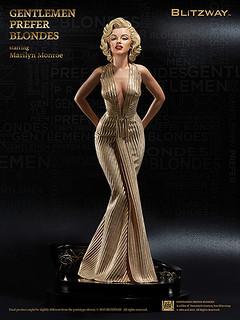 BLITZWAY【瑪麗蓮.夢露】1953 紳士愛美人1/4 比例 全身雕像
