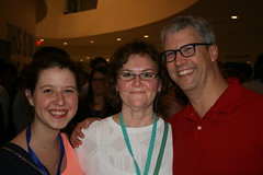 Joel Bumgardner with SFB staff: Becky Riedesel, Sarah Mercer
