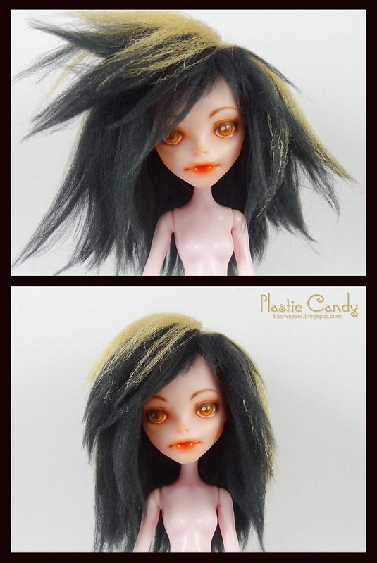 Brushed yarn wig