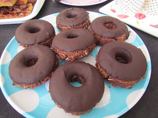 Whole Wheat Choco-Coconut Donuts