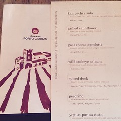 Tonight's #menu for the @domaineportocarras #wine dinner #yummy