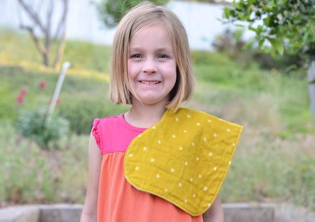 knit/double gauze burp cloth