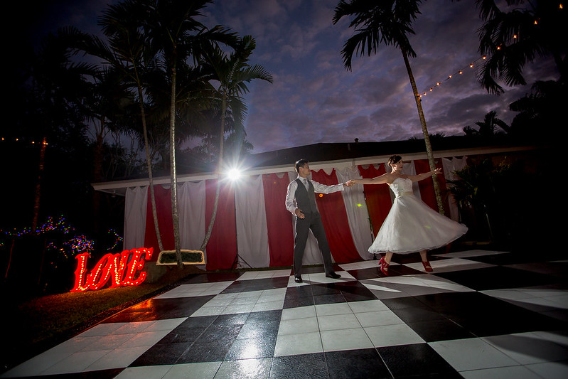 Tropical circus wedding from @offbeatbride
