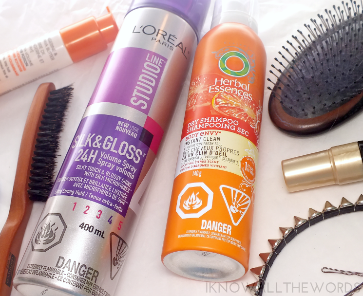 volume boosted hair care loreal silk & gloss volume spray herbal essences body envy instant clean dry shampoo