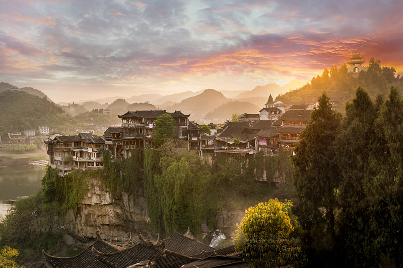 17365887581_3027859e42_c Furong Zhen le bourg des hibiscus, un fantastique village chinois avec une cascade