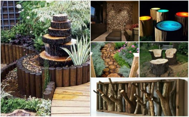 12 DIY Inspired Ideas For Reusing Old Tree Stumps, Logs and Trunks