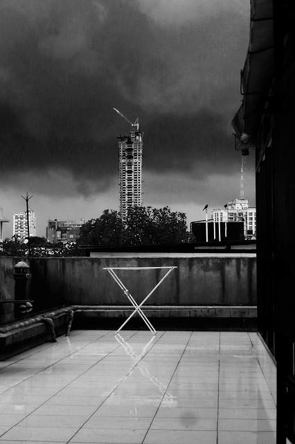 Threatening clouds.