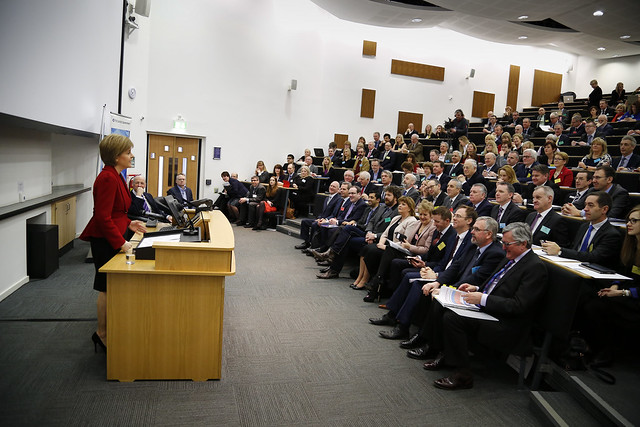 First minister addresses the National Economic Forum