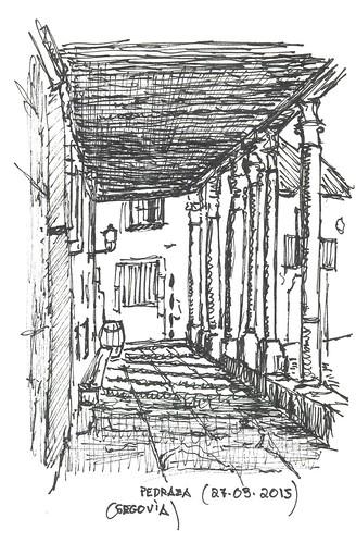 Pedraza (Segovia). Soportales de la plaza mayor