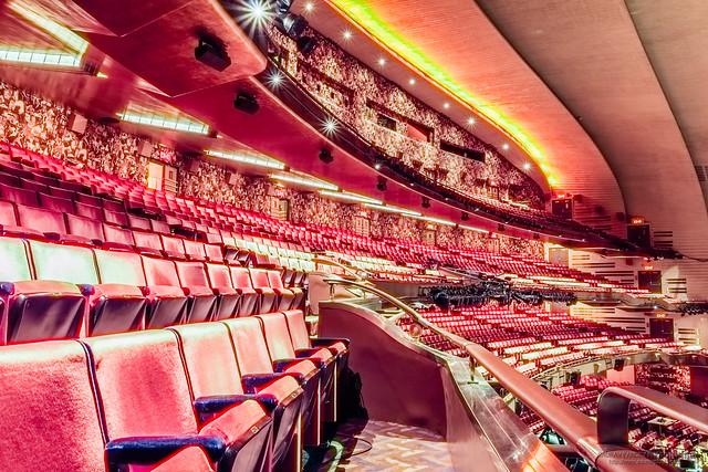 Balconies at the Radio City Music Hall