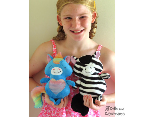 baby pony zebra unicorn Sewing Pattern softies