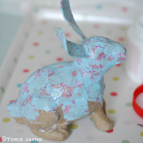 decoupage bunny tutorial 4