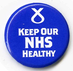 Keep our NHS Healthy.  SNP 2015 General Election Badge