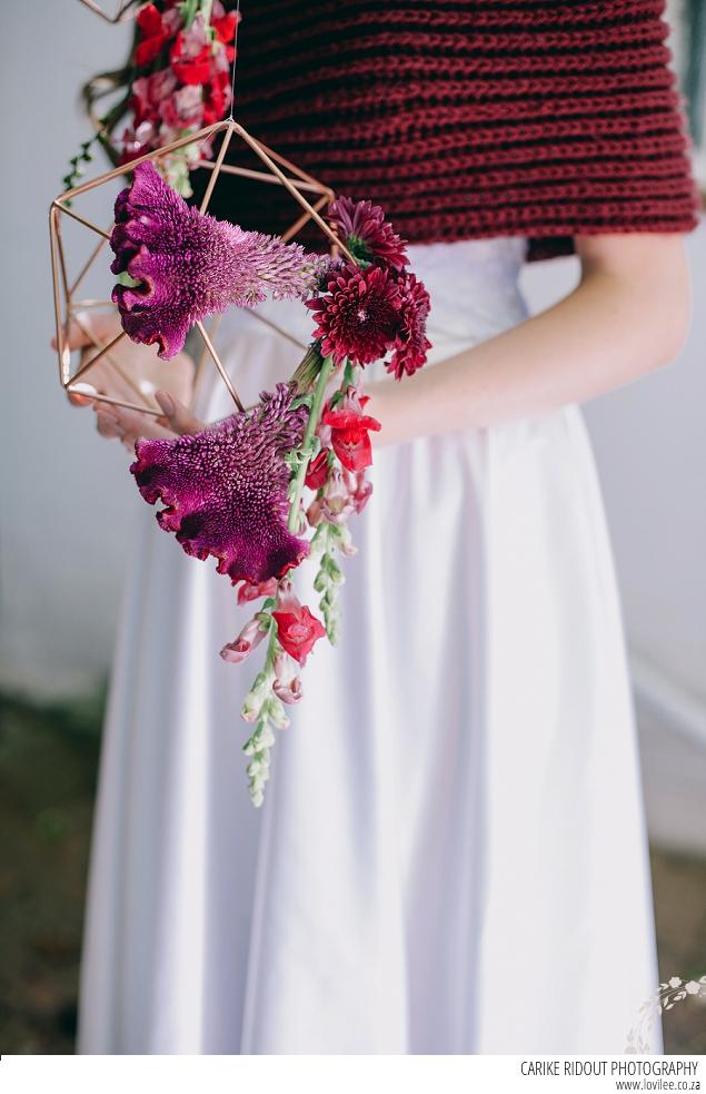 Marsala wedding shawl