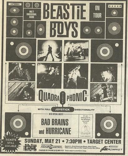 05/21/95 Beastie Boys/ Bad Brains/ Hurricane @ Target Center, Minneapolis, MN