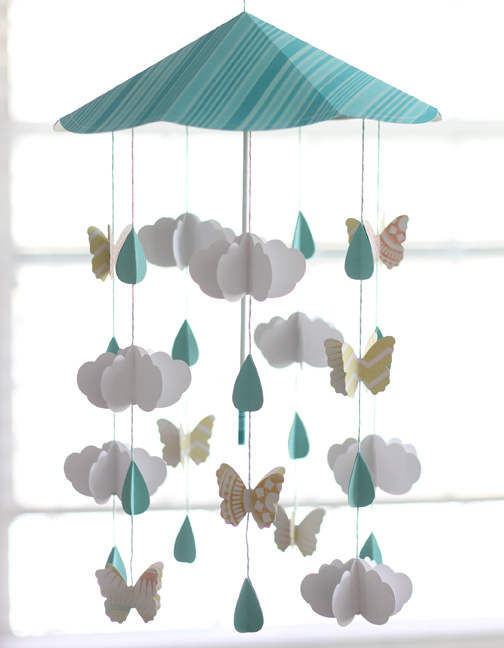 Umbrella Mobile by Kelly Wayment for Silhouette