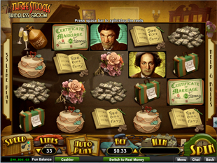 The Three Stooges Brideless Groom slot game online review