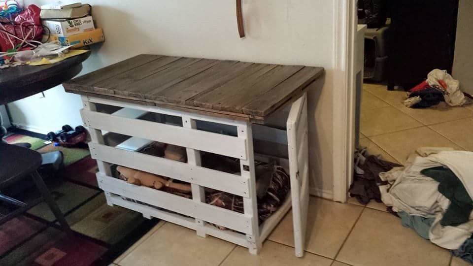 rustic dog crate from upcycled pallets flickr photo