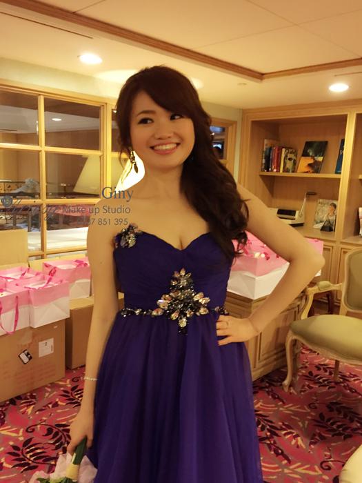 Giny,台北新娘秘書,新秘,清透妝感,蓬鬆盤髮,歐華酒店,歐美手工飾品,鮮花造型