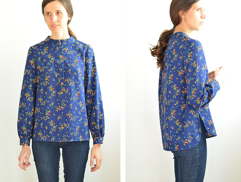 Blue 60s Blouse