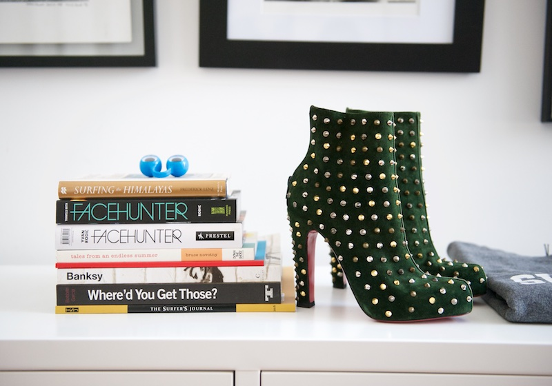 Christian Louboutin studded boots