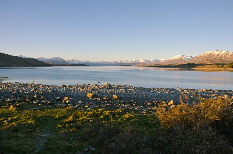 golden hour at Lake Tekapo