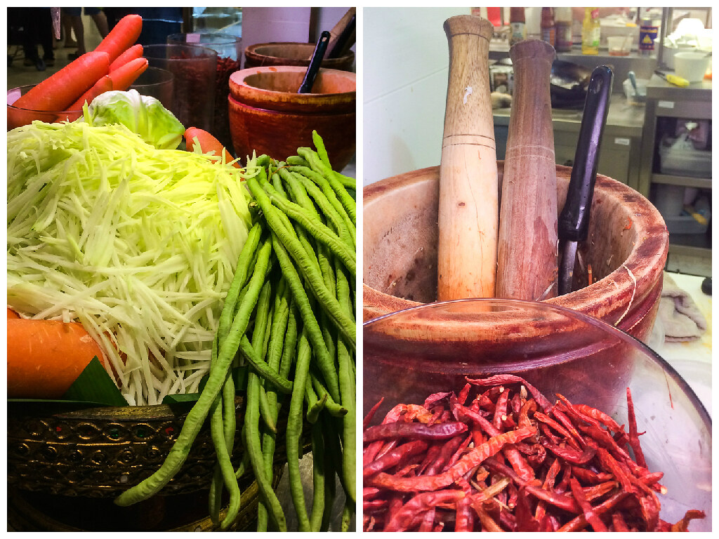som tam ingredients in Thailand