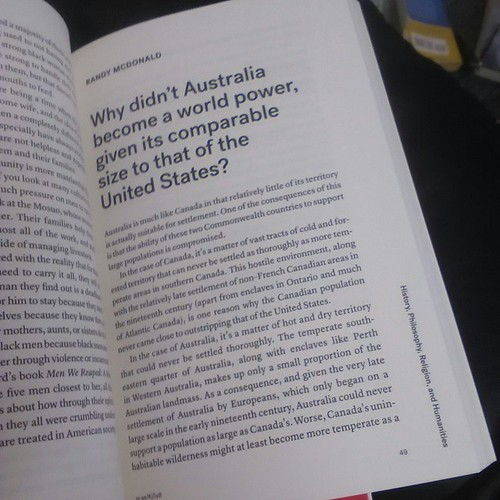 My entry in the Quora Anthology 2014 comparing Canada with Australia #canada #australia #books #quora