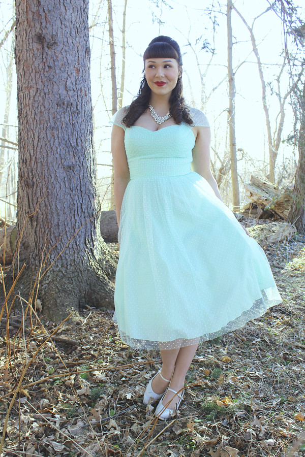 mint green vintage dress