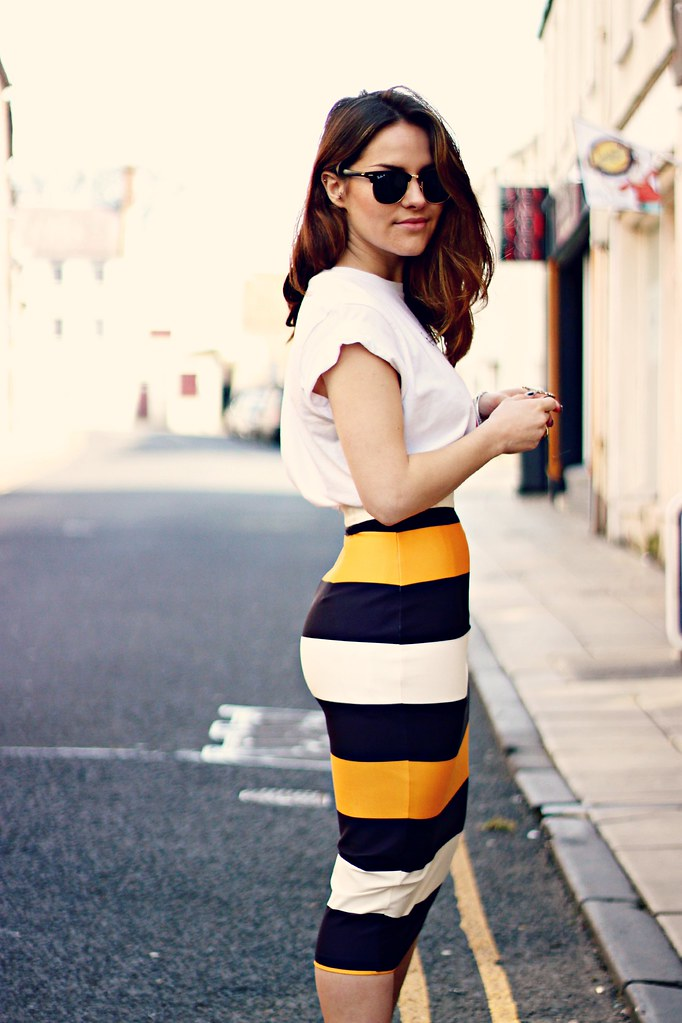 ASOS scuba pencil skirt the little magpie 4