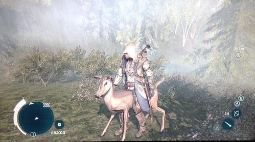 Assasin's Creed 3 - riding a deer