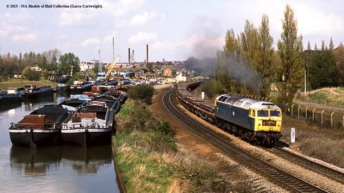 train diesel railway freight britishrail southyorkshire swinton class47 47277