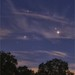 Saturn, Mars and Antares in the Evening Sky