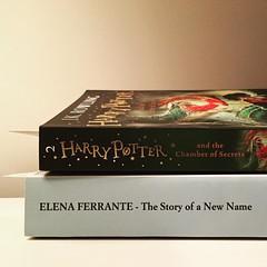 bedtime reading. #bookworm #bedtime #harrypotter #elenaferrante