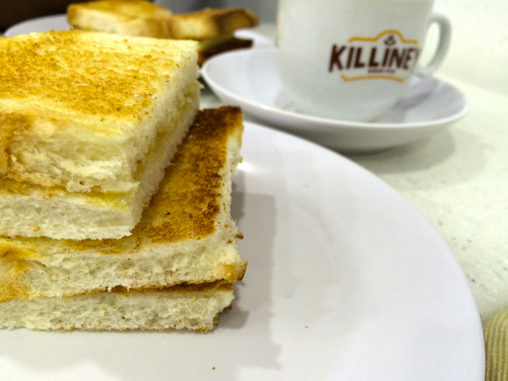 Kaya toast and teh-c