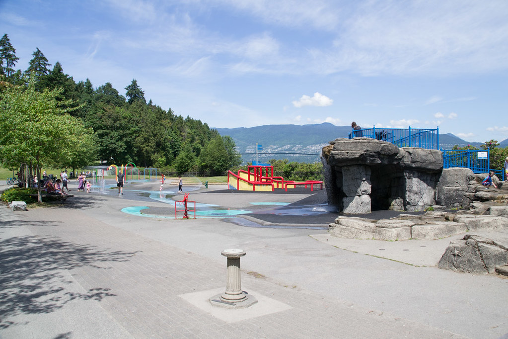 Splash pad in Stanley Park
