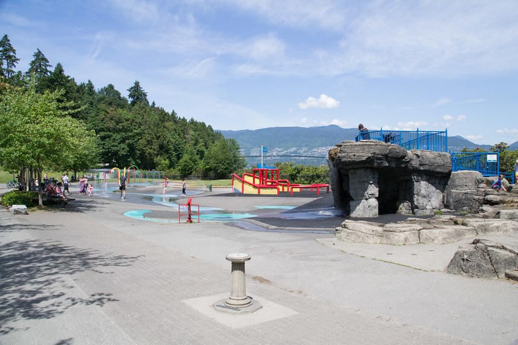 Splash pad in Stanley Park