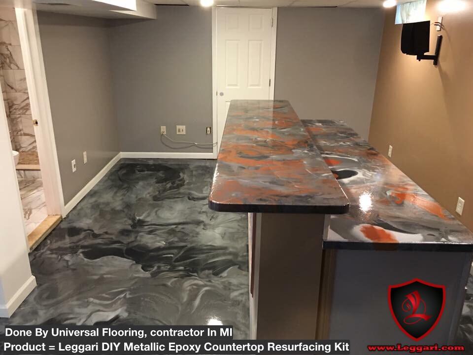 #DIY #metallic #epoxy #countertop #resurfacing #kits And #metallicepoxy #