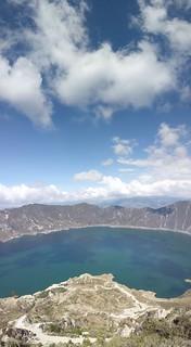 Quilotoa lake tall