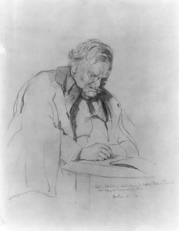 NPG 3984; G.K. Chesterton