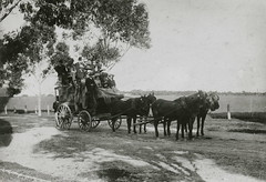 Willunga mail coach, 1885